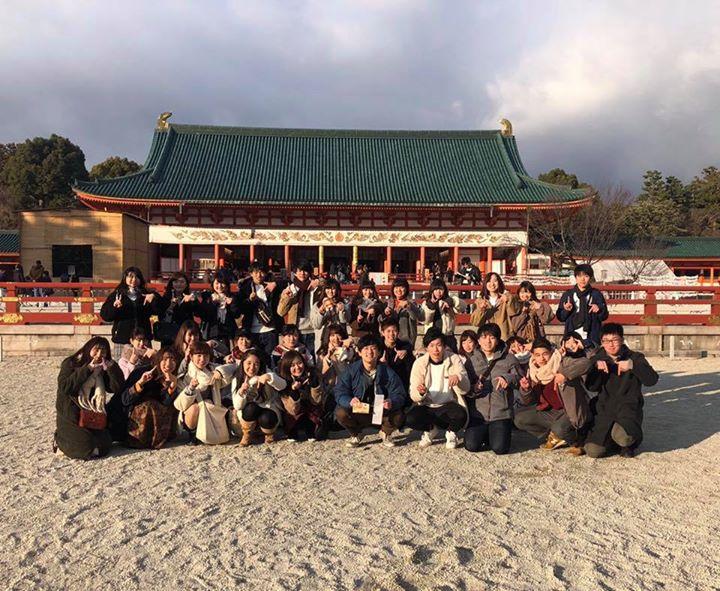 【初詣をしました!⛩】�本日、初詣のため平安神宮に行ってきました!第17回京都学生祭典が成功できるよう、実行委員が参拝しました!
